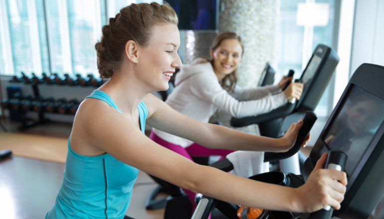 Cardio-Training, Fitnessstudio