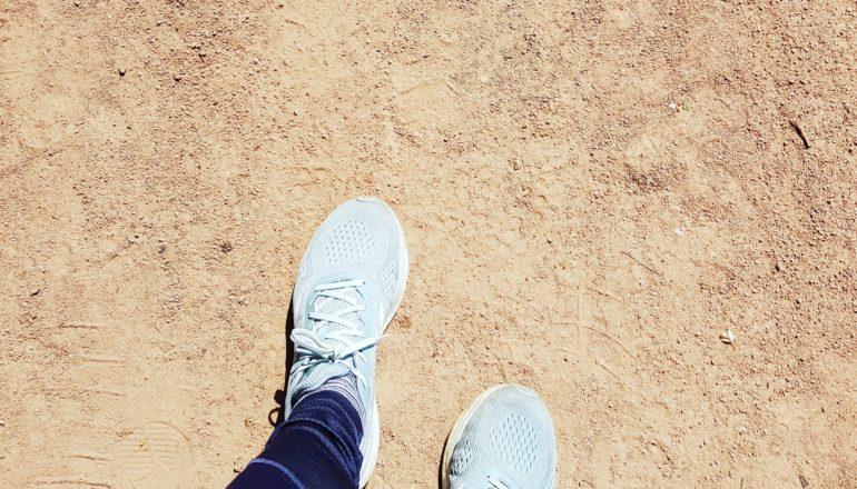 Diese Schuhe müssen einen Cooper-Test überstehen. ©Bettina Koch