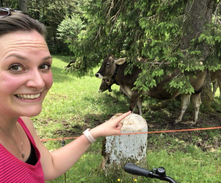 Das Beste im Allgäu: Überall gibt es Kühe! © www.ichmachdannmalsport.de/Nina-Carissima Schönrock