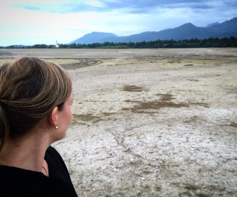 Eine Wüste mitten im Allgäu: Der Forggensee. © www.ichmachdannmalsport.de/Nina-Carissima Schönrock