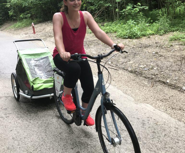 Ein kleiner Eindruck davon, wie ich aussehe, wenn ich todesmutig Fahrrad fahre.© www.ichmachdannmalsport.de/Nina-Carissima Schönrock