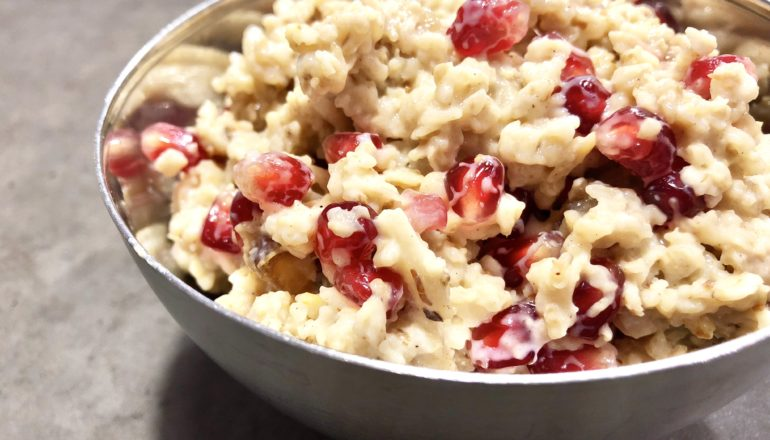 Dieses Porridge schmeckt mir im Winter besonders gut. ©Nina-Carissima Schönrock/ichmachdannmalsport.de