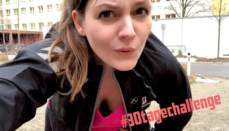 30-Tage-Challenge, Frau beim Sport