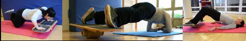 Gleichgewicht trainieren, Wonkyboard, Übungen