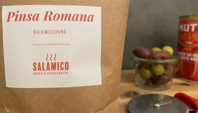 Pinsa Romana, Salamico, Backmischung